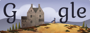 Charlotte Brontë - 198th Birthday Google Doodle